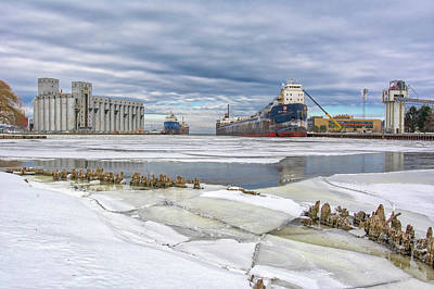 Photograph - January In Owen Sound Harbour by Irwin Seidman