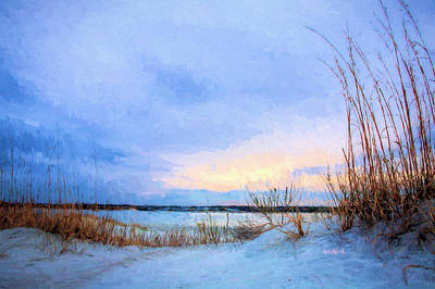 January In Panama City Beach Art Print by JC Findley