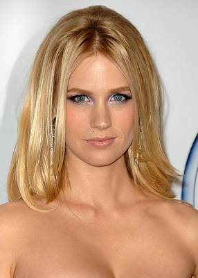January Jones At Arrivals For 2009 Pga Art Print
