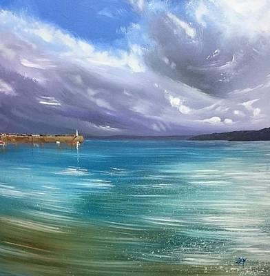 Painting - January Light, St.ives Harbour  by Keran Sunaski Gilmore