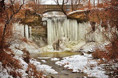 January Melt At Wequiock Falls  Art Print