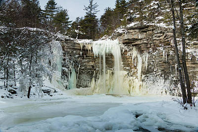Photograph - January Morning At Awosting Falls by Jeff Severson