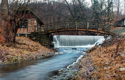 Photograph - January Morning At Gomez Mill #1 by Jeff Severson
