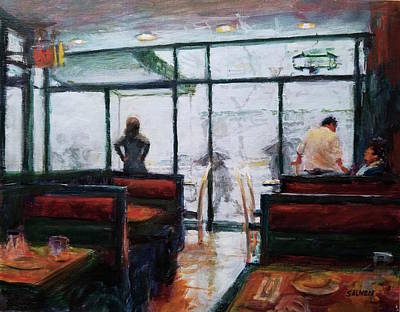 Painting - January, Morning Break by Peter Salwen