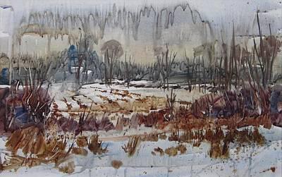 January Rain Original by Len Stomski