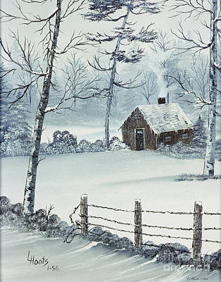 January Snow Print by Lettie Hoots
