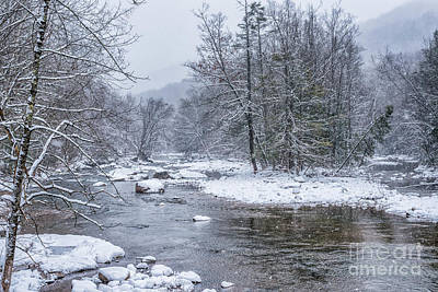 Photograph - January Snow On The River by Thomas R Fletcher