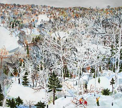 Snowy Day Mixed Media - January by Sophia Heymans