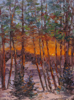 Painting - January Sunrise by Ken Fiery