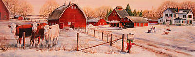 Hereford Painting - January Thaw by Toni Grote