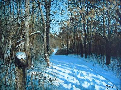 Painting - January Trail by William Brody