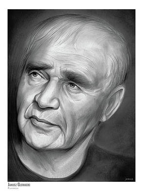 Cities Drawings - Janusz Glowacki by Greg Joens