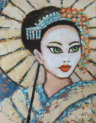 Painting - Japan by Audrey Peaty