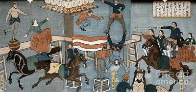 Drawing - Japan, Circus, C1864.  by Granger