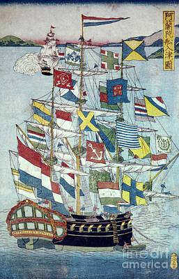 Photograph - Japan: Dutch Ship by Granger