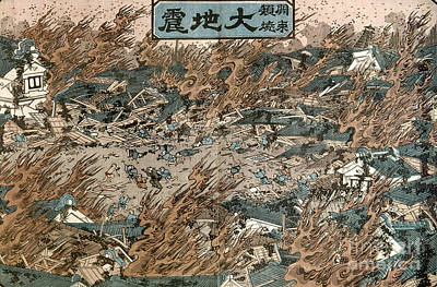 Photograph - Japan: Earthquake, 1855 by Granger