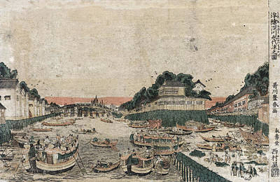 Drawing - Japan, Fukagawa, C1770.  by Granger