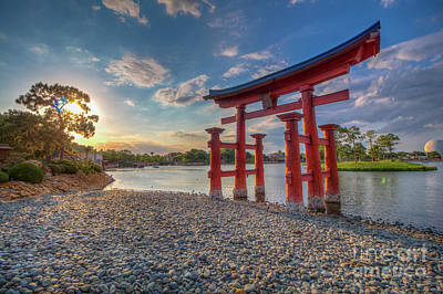 Photograph - Japan Pavilion At Epcot by Luis Garcia