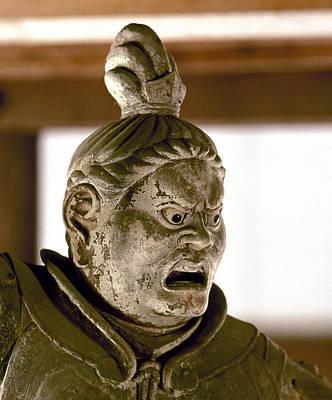 Japan: Warrior Statue Art Print by Granger