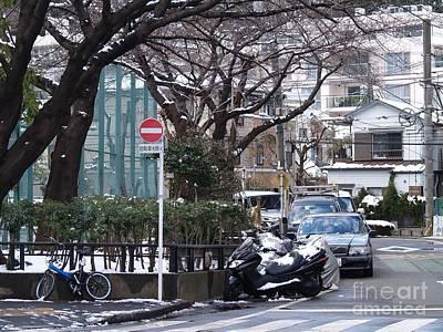Japan Yoyogi Snow Art Print by Lee Tinglu