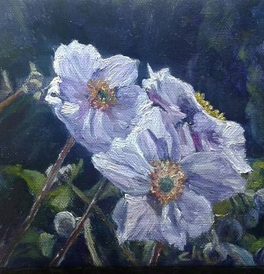Painting - Japanese Anemones by Candi Hogan