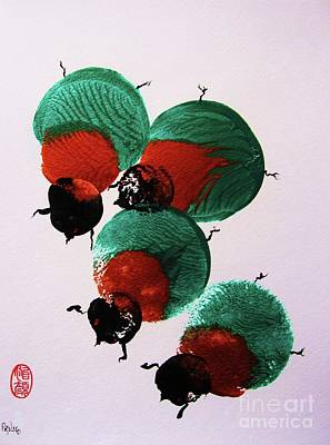 Painting - Japanese Beetles by Roberto Prusso