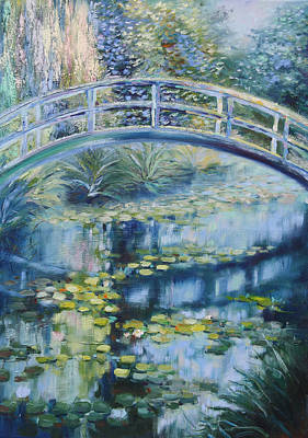 Painting - Japanese Bridge by Elena Antakova
