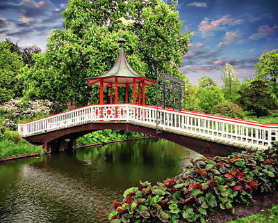 Photograph - Japanese Bridge Garden by Anthony Dezenzio