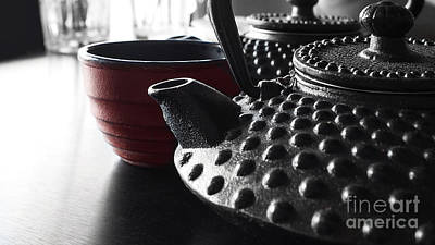 Photograph - Japanese Cast Iron Kettles by Nika Lerman