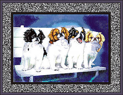 Japanese Puppy Digital Art - Japanese Chin Puppies by Kathleen Sepulveda