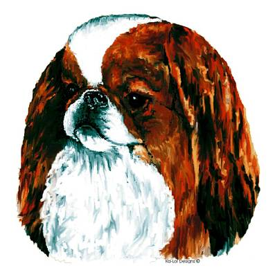 Japanese Puppy Digital Art - Japanese Chin, Sable by Kathleen Sepulveda