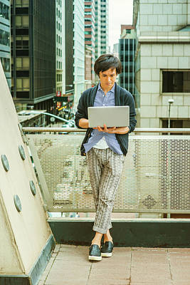 Photograph - Japanese College Student Studying In New York 15041419 by Alexander Image