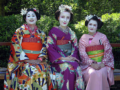 Photograph - Japanese Dress Up by John Lautermilch