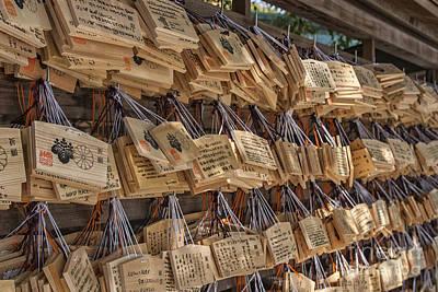 Japanese Ema Prayer Tablets Print by Patricia Hofmeester