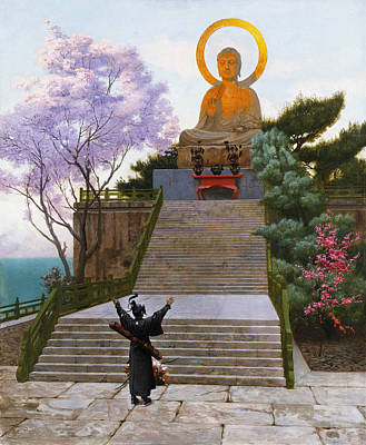 Jean-leon Gerome Painting - Japanese Emploring A Deity by Jean-Leon Gerome