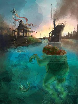 Painting - Japanese Fable 2 by Andy Catling