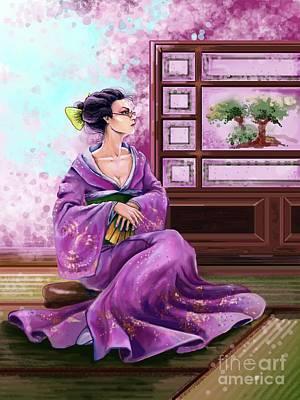 Japanese Fashion Art Print by Sofia Malkhasian