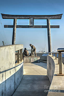 Photograph - Japanese Fishing Village Memoria, Terminal Island  by David Zanzinger