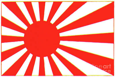 Painting - Japanese Flag by Granger