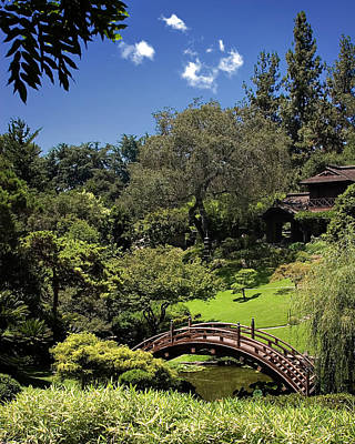 Photograph - Japanese Footbridge - Huntington Gardens by Endre Balogh