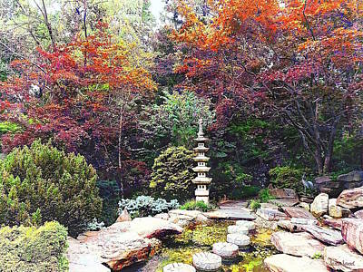Photograph - Japanese Garden With Pagoda by Susan Savad