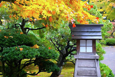 Mixed Media - Japanese Garden 2 by Dennis Cox Photo Explorer