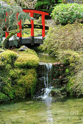 Humpback Bridge Photograph - Japanese Garden At Butchart Gardens, Canada by Louise Heusinkveld