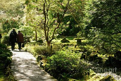 Japanese Garden At Butchart Gardens In Spring Art Print by Louise Heusinkveld