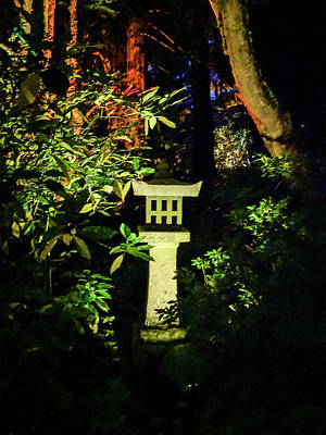 Photograph - Japanese Garden At Night by Michael Bessler