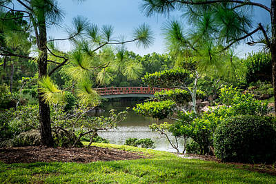 Photograph - Japanese Garden Bridge by Louis Ferreira