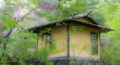 Photograph - Japanese Garden House by Melinda Martin