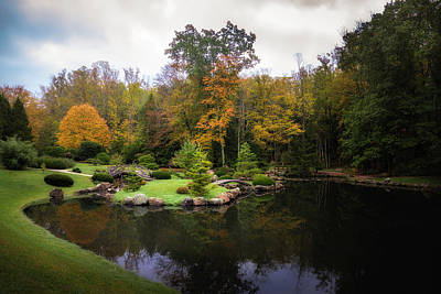 Photograph - Japanese Garden In Early Autumn by Tom Mc Nemar