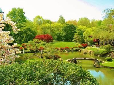 Japanese Garden In Spring Art Print by Marla McPherson