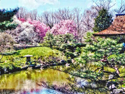 Photograph - Japanese Garden In Spring by Susan Savad